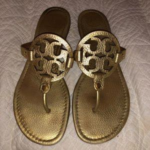 Tory Burch gold miller sandals
